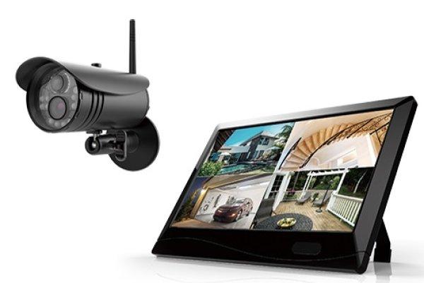 画像1: ワイヤレスカメラ&録画機能搭載モニターセット (1)