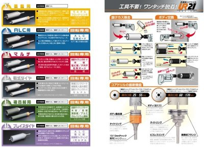 画像3: 多機能コアドリル 乾式ダイヤ25φ〜170 P4-1404 P5-1404 P6-1404