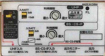 画像1: UHF/BS・CS(屋外/屋内)ブースター33dB P6-1201
